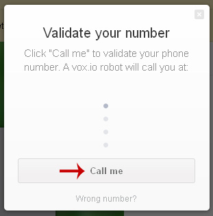 إجراء مكالمات مجانية vox.io