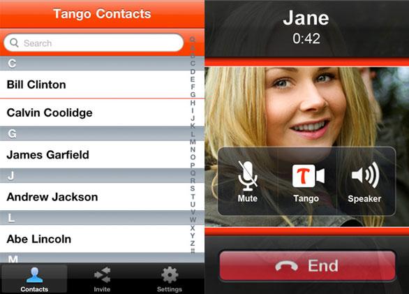 tango للآيفون مكالمات مجانية