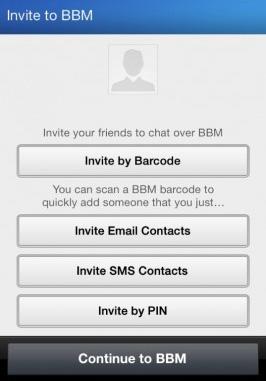 bbm invite pin