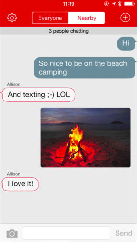 screenshot for iphone app firechat